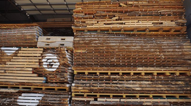 Pallets of Wood