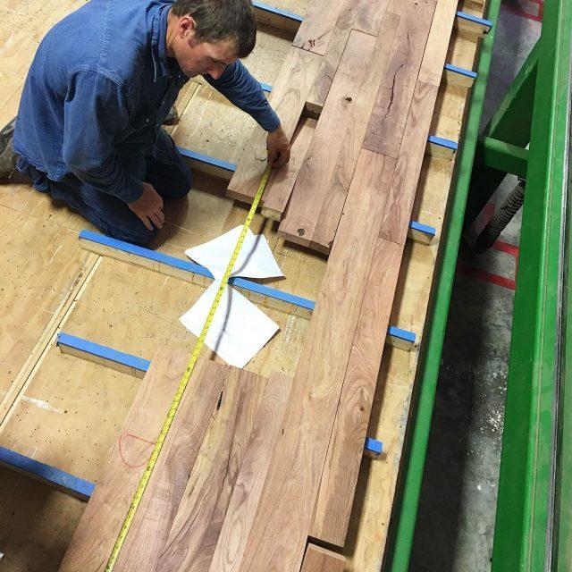 Mesquite countertop glueup 1 of 3 underway!