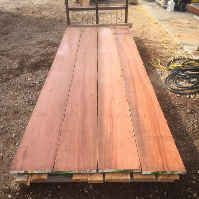 24 Inch Wide 8 Feet Long Slab 2 Inches Thick Pecan Lumber
